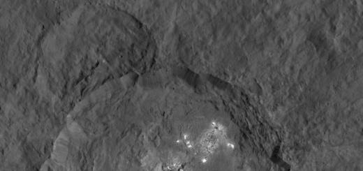 Яркие пятна на поверхности Цереры предстают перед нами в новых деталях