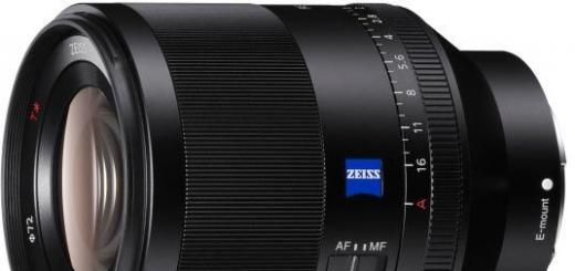 Представлен полнокадровый объектив Sony FE 50mm F1.4 ZA
