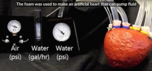 Самое мощное искусственное сердце сделано из пенопласта