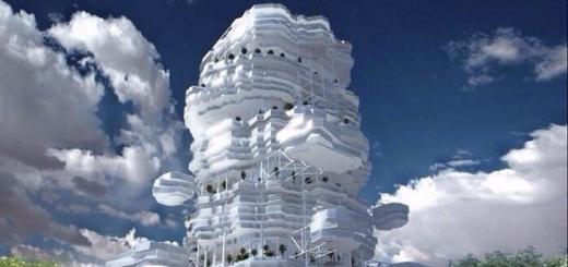 «Облачный город» — футуристический проект жилого комплекса от казахских архитекторов
