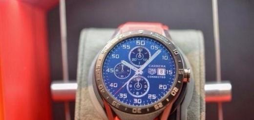 Первые шикарные часы с Android Wear от Tag Heuer