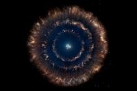 Астрономы обнаружили необычный космический объект — матрешку из трех вложенных друг в друга остатков сверхновых. В центре — звездное скопление