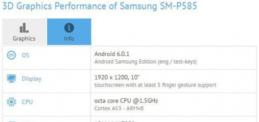 В Сети засветился планшетный компьютер Samsung SM-P585