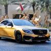 «Золотой» седан Mercedes-Benz S65 в версии Brabus развивает 900 л.с.