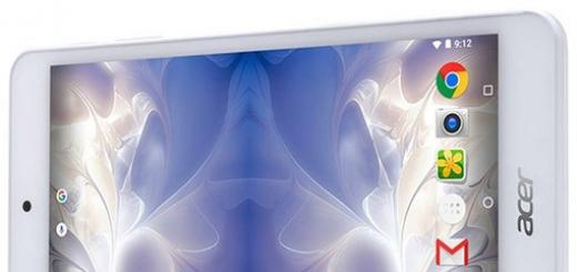 Планшет Acer Iconia One 7 (B1-780) ориентирован на детей
