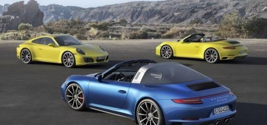 Дебют спорткаров Porsche 911 Carrera 4 и 911 Targa 4