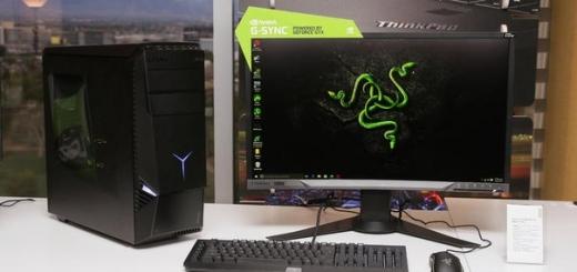 Lenovo и Razer показали новый игровой ПК и изогнутый монитор
