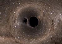 Новая модель демонстрирует всю грандиозность столкновения двух черных дыр