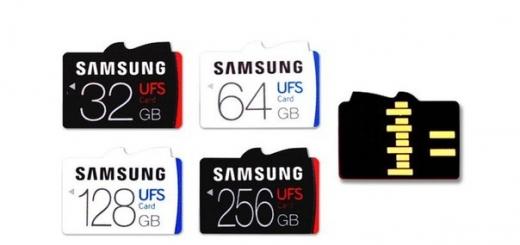 Первые в мире карты памяти UFS от Samsung — неимоверно быстрые