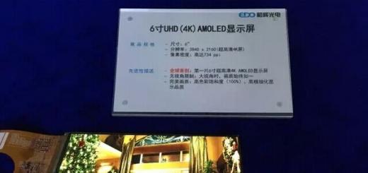 4K AMOLED-экран с диагональю 6 дюймов для шлемов виртуальной реальности