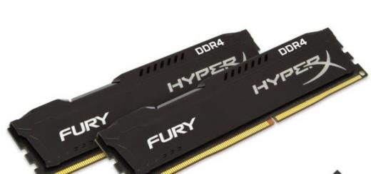 HyperX выпустила новые комплекты модулей памяти Fury DDR4 для платформы Intel Skylake с функцией автоматического разгона