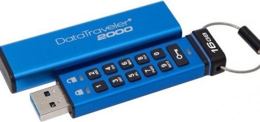 Флэш-накопитель Kingston DataTraveler 2000 располагает физической клавиатурой для установки и ввода пароля