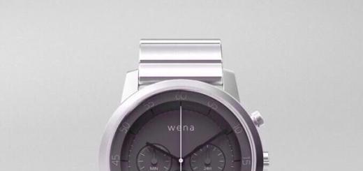 Sony Wena — умные классические часы