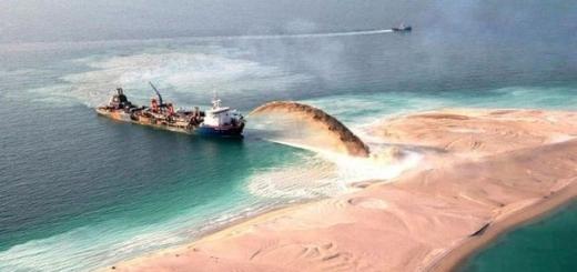 Как создают искусственные острова в Дубае.